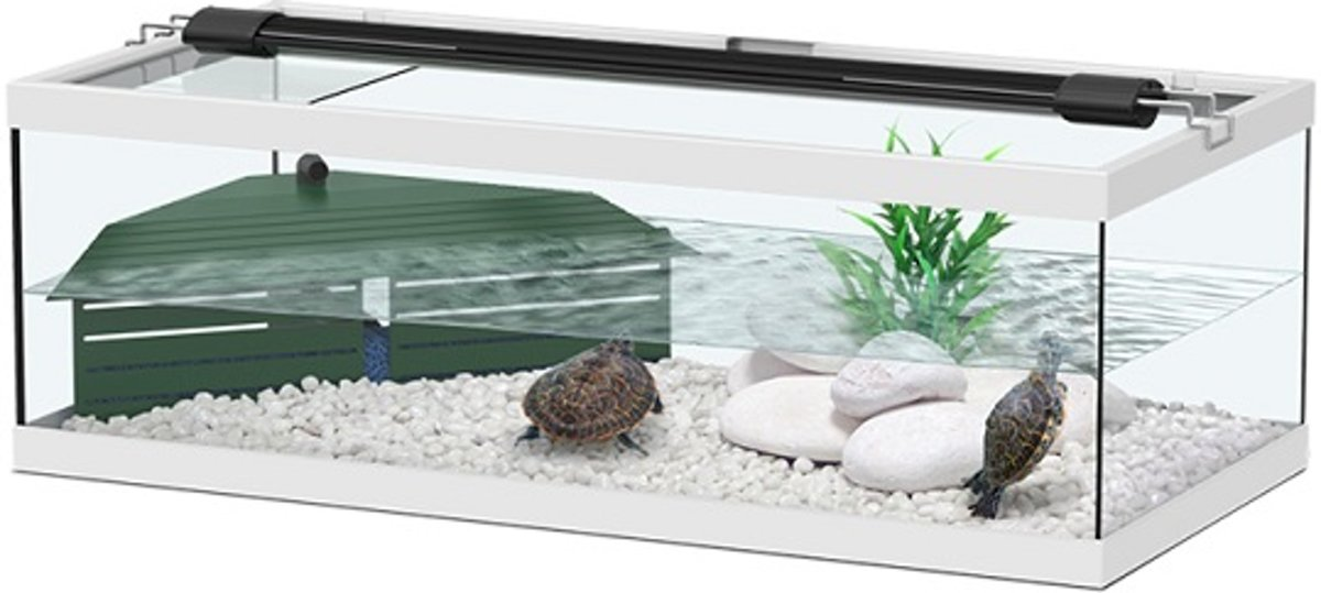 Aquatlantis Tortum 75 Aquarium - 75x36x25 cm - Wit