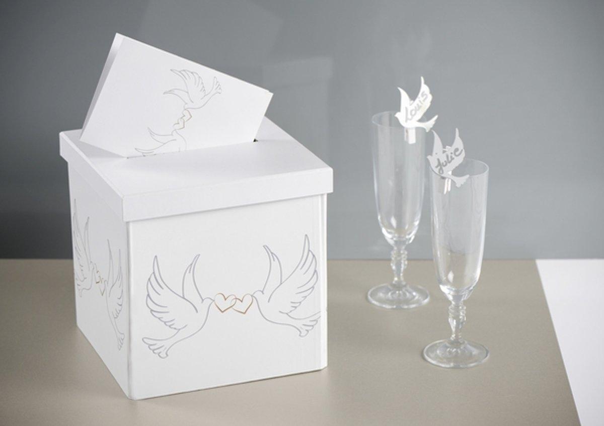 Santex Enveloppendoos White Doves - karton kopen
