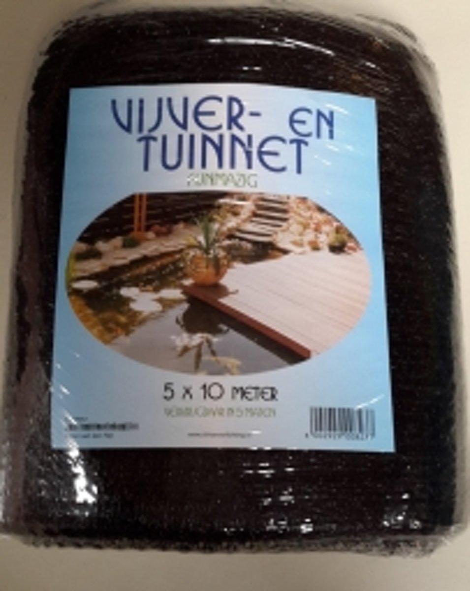 Vijvernet 5 x 10 meter Zwart Maas 1 x 1 cm kopen