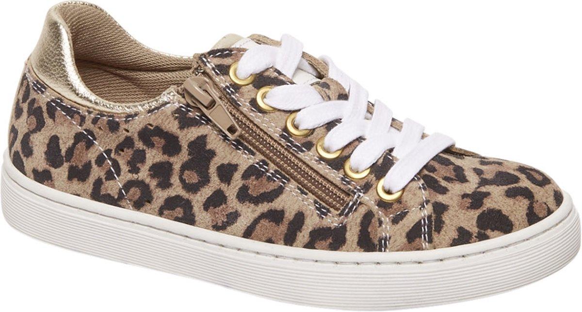Graceland Kinderen Bruine leren sneaker leopard - Maat 32 kopen