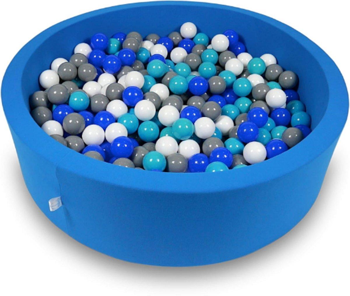 Ballenbak - 400 ballen - 115 x 30 cm - ballenbad - rond blauw