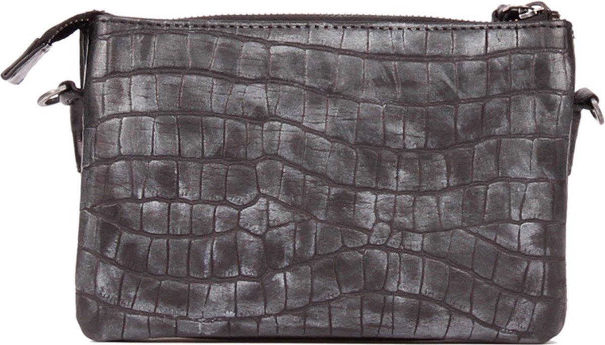 Legend Crossbodytas Bag Como Croco Zwart kopen