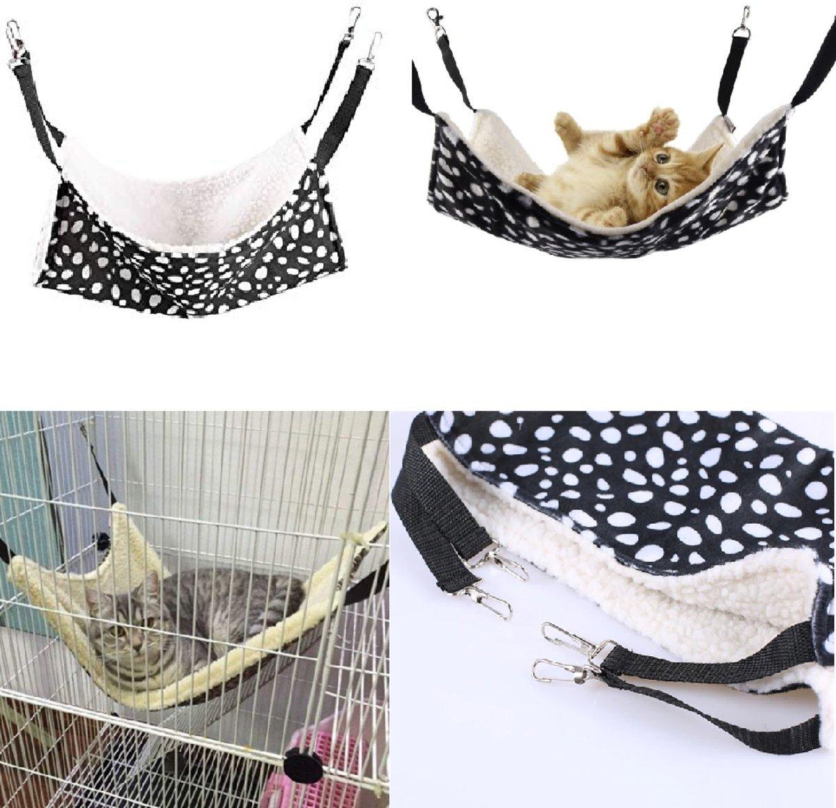 Knaagdieren en katten hangmat ophang model - 37x37 cm kopen