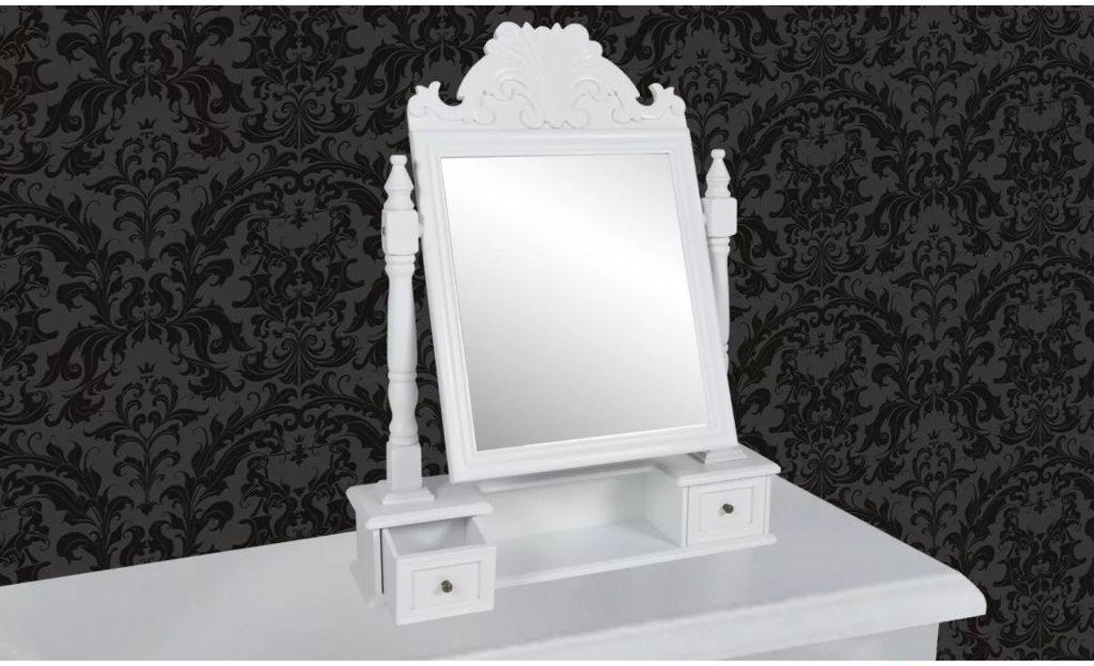 Witte Barok Spiegel : Bol vidaxl barok spiegel hout wit