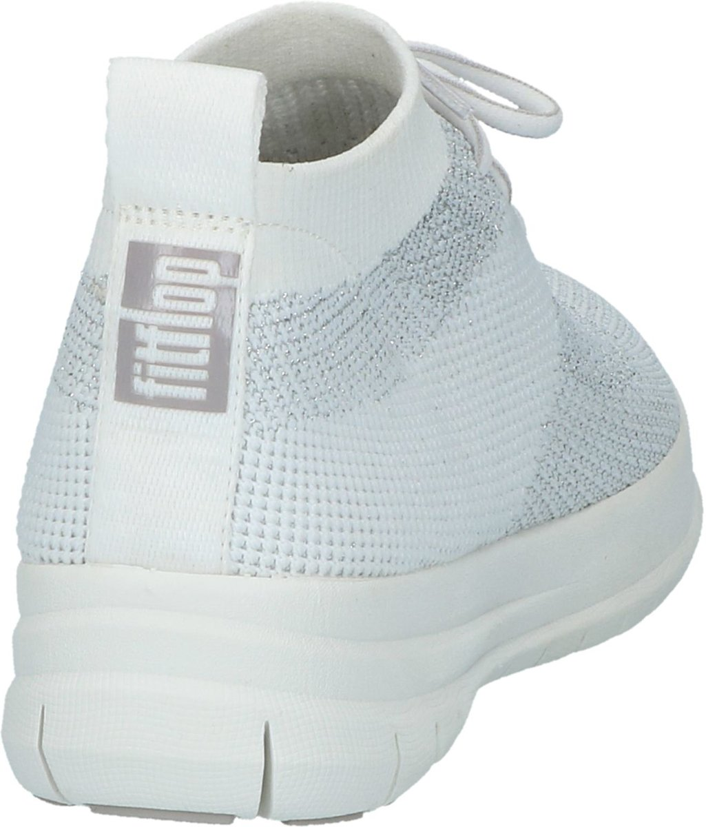 FitFlop Uberknit Slip On High Top Sneaker Sneaker hoog gekleed Dames Maat 37 Wit J30 567 Metallic SilverUrban White