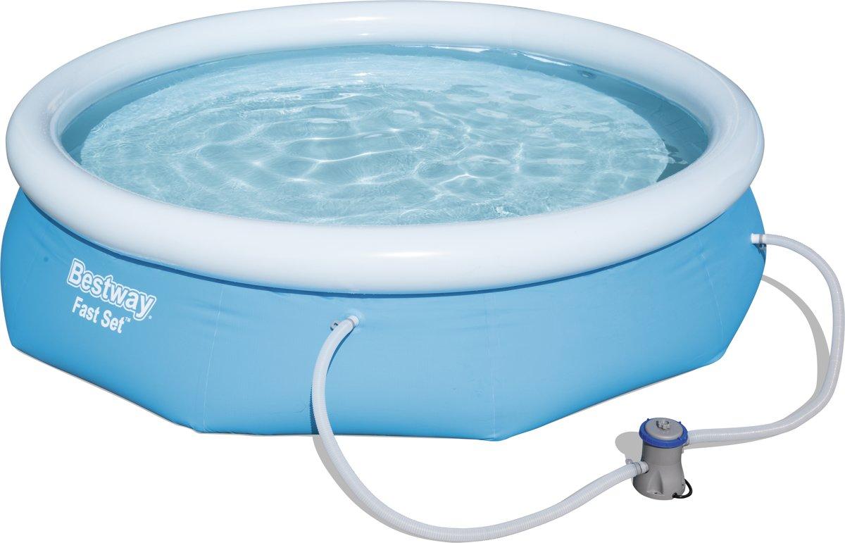 Bestway Fast Met Filterpomp Rond 305 cm Blauw - Opblaas zwembad