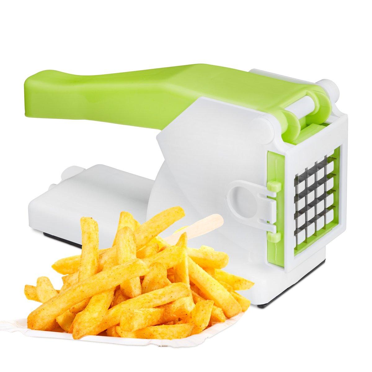 Frietsnijder – Aardappel snijder – Chips maker - Patat Snijder - Fritessnijder - Franse Friet Snijder – 2 Verschillende maten kopen