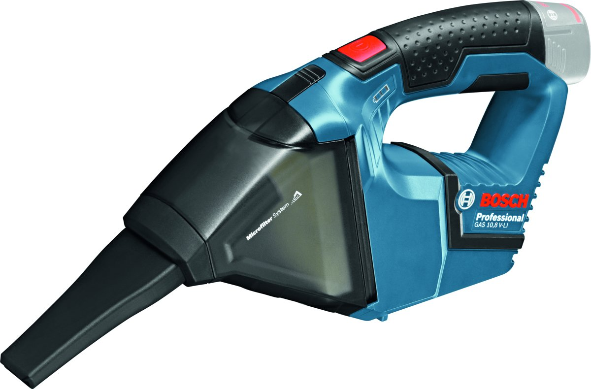 Bosch Professional GAS 12 V-LI Accu stofzuiger - Met 2 x 2,5 Ah Li-Ion accu's, AL 1130 CV lader en L-BOXX