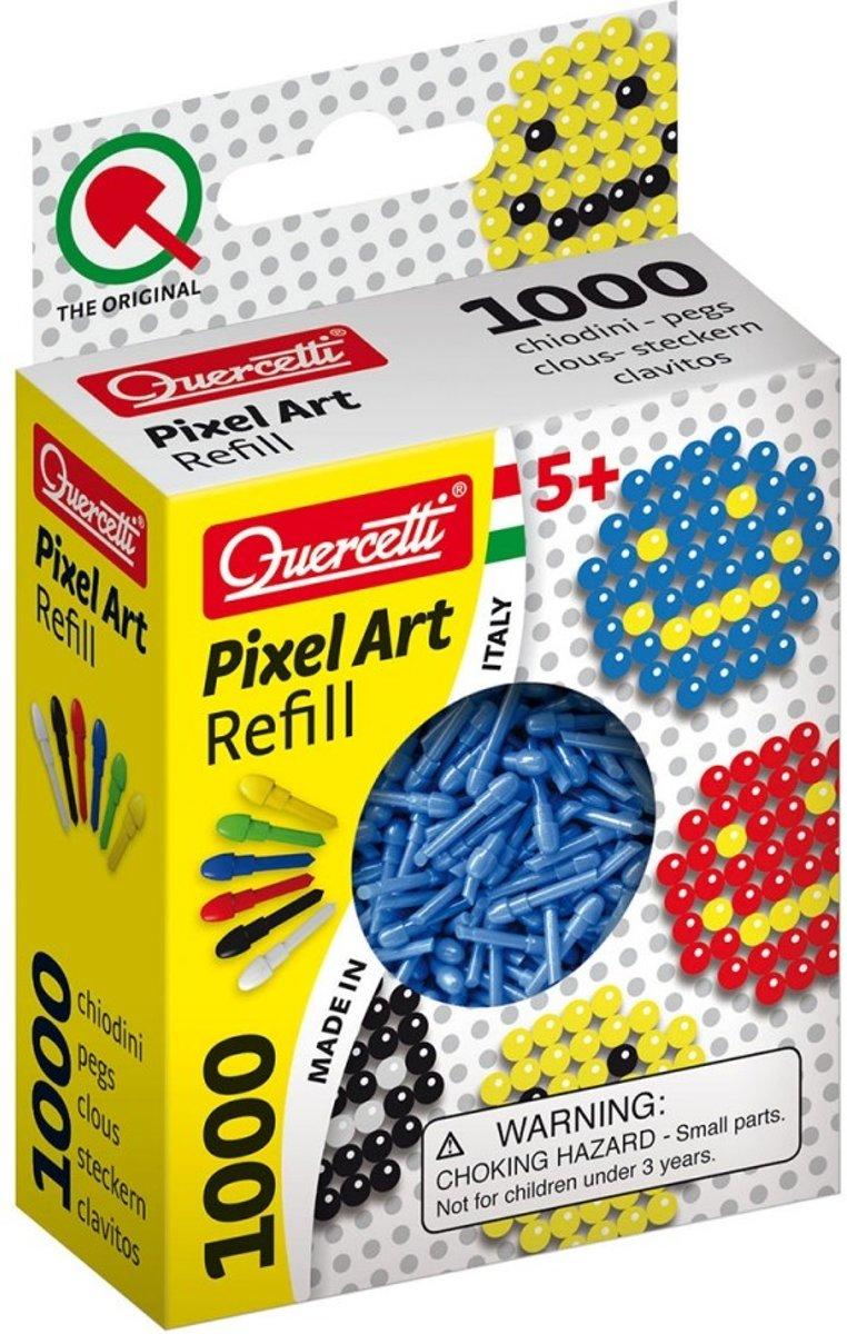 Quercetti Pixel Art Navulling Blauw, 1000st.