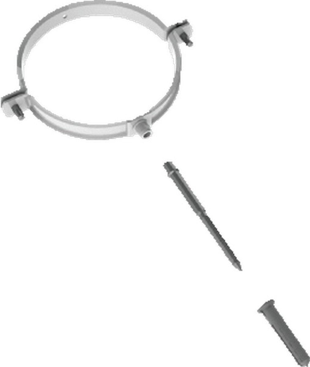 BUHO tweedelige beugel Alu-fix, alu, wit, uitw buisdiam 100 - 0mm kopen