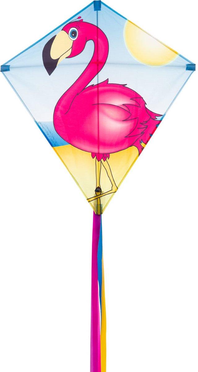 Invento Diamantvlieger Eddy Flamingo 68 Cm Roze/blauw