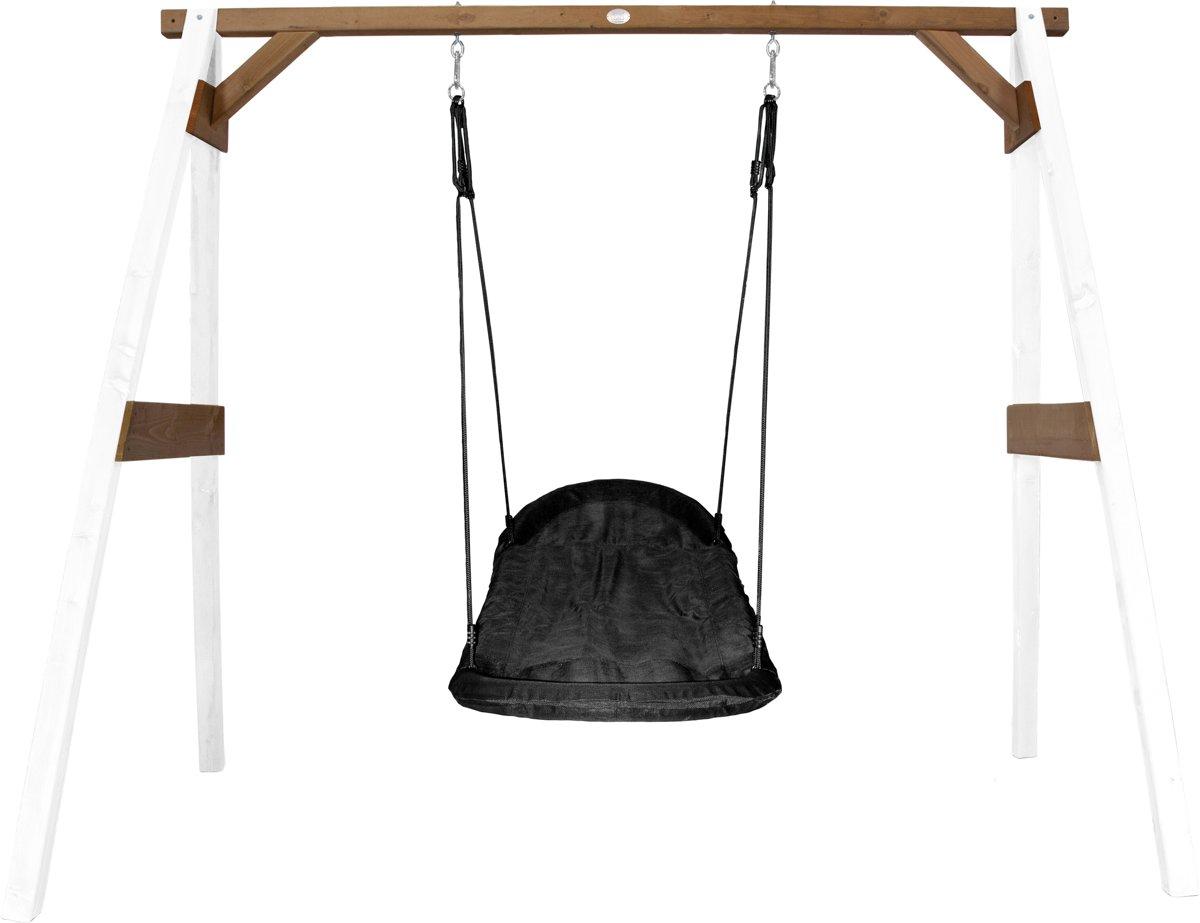 Afbeelding van product AXI  Roxy Nest Schommel Wit/bruin - FSC100% Hemlock hout - 1 nestschommel en 4 grondankers