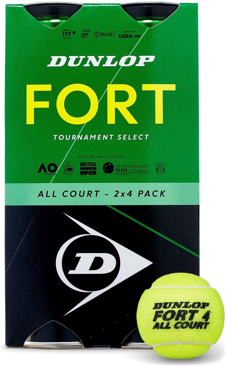 Dunlop D Tb Fort All Court Ts 2X4Tin Cartonette Tennisballen - Yellow kopen