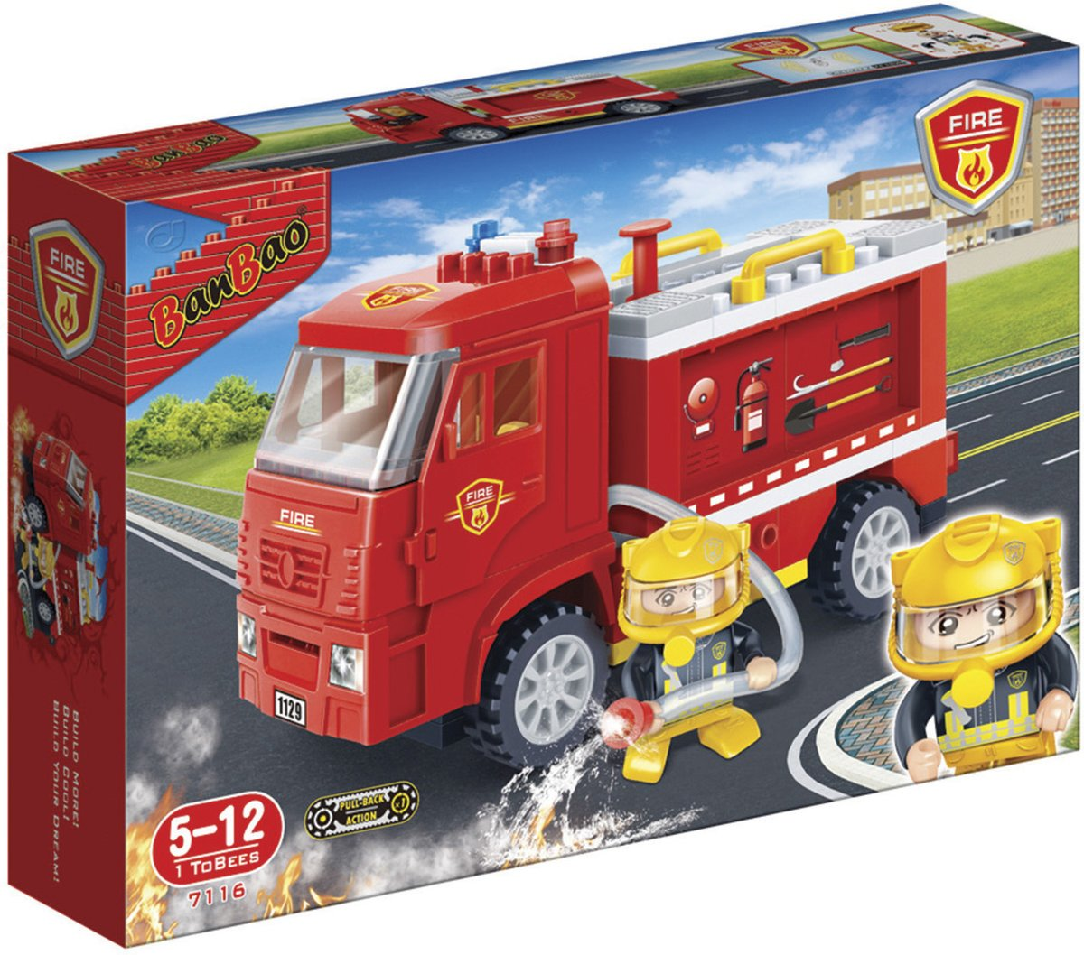 BanBao Brandweer Brandweervrachtwagen - 7116