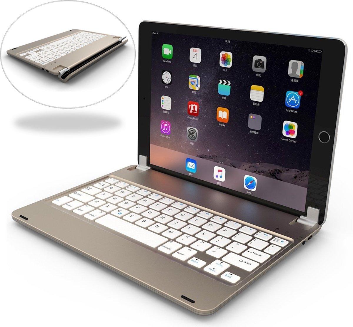 Apple iPad 9.7 (2017 / 2018) Toetsenbord Hoes Bluetooth Keyboard Case - Goud - van iCall