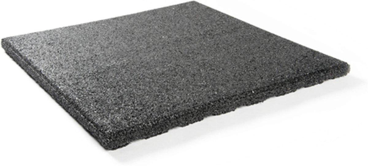 Rubber tegels 30 mm - 1 m² (4 tegels van 50 x 50 cm) - Zwart kopen