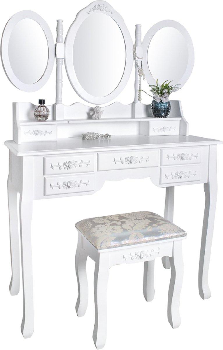 Toilettafel Met Spiegel Wit.Top Honderd Klassieke Make Up Cosmetica Visagie Tafel Meisjes