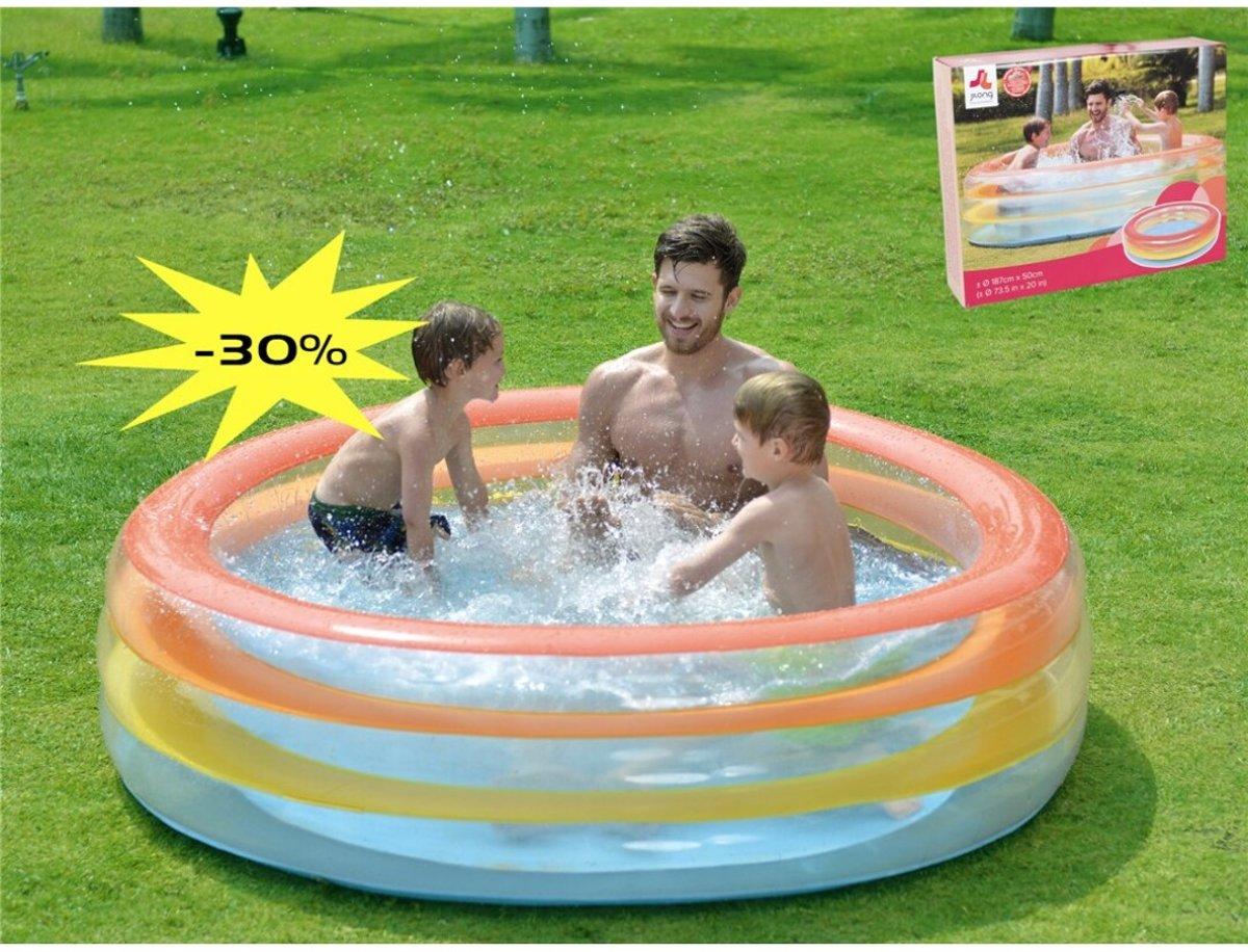 Familiezwembad rond gekleurde ringen 187