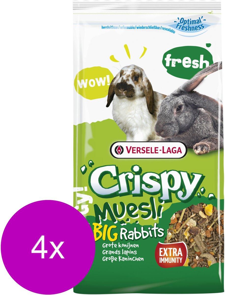 Versele-Laga Crispy Muesli Grote Konijnen - Konijnenvoer - 4 x 2.75 kg