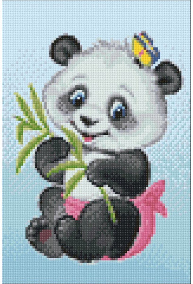 Afbeelding van product Wizardi Diamond Painting Little Panda WD2368