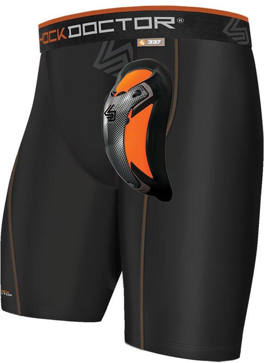 Shock Doctor Compression Short met Ultra Carbon Flex Cup Kruisbeschermer Zwart Extra Large kopen