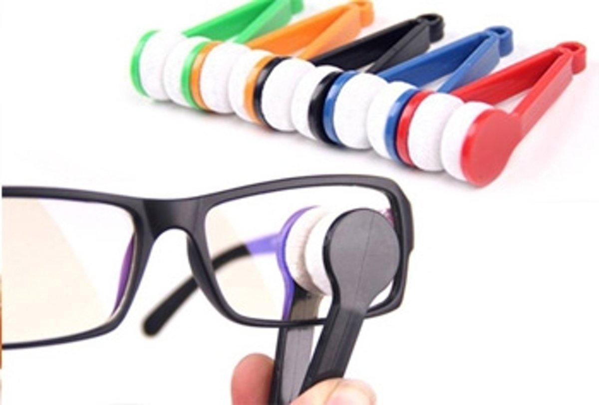 Brillenpoetser - Microvezel Brillendoekje sleutelhanger - brillenpoetsdoekje - bril reiniger - 2 stuks willekeurige kleur kopen
