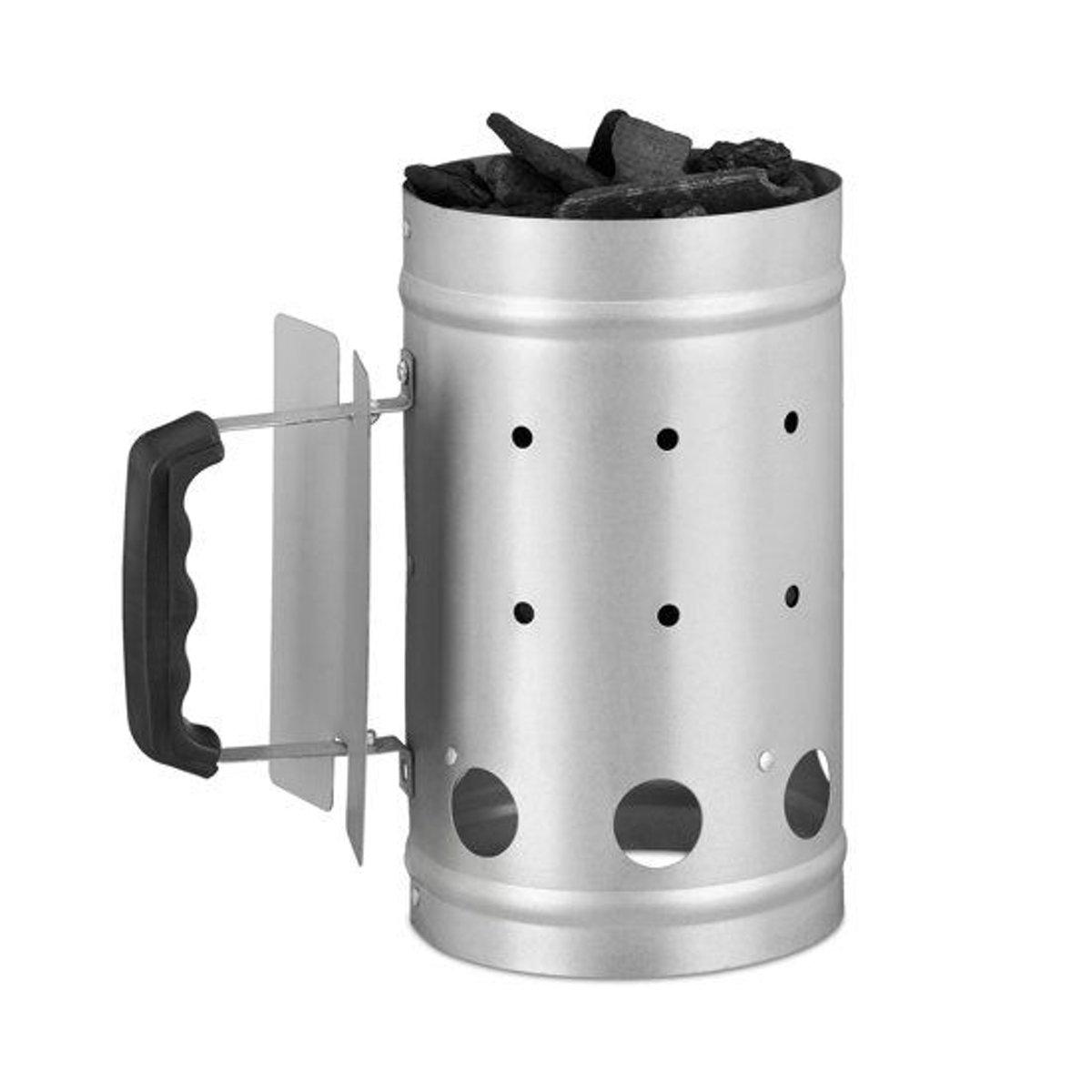 relaxdays brikettenstarter - BBQ starter - houtskool starter - barbecue starter - zilver kopen