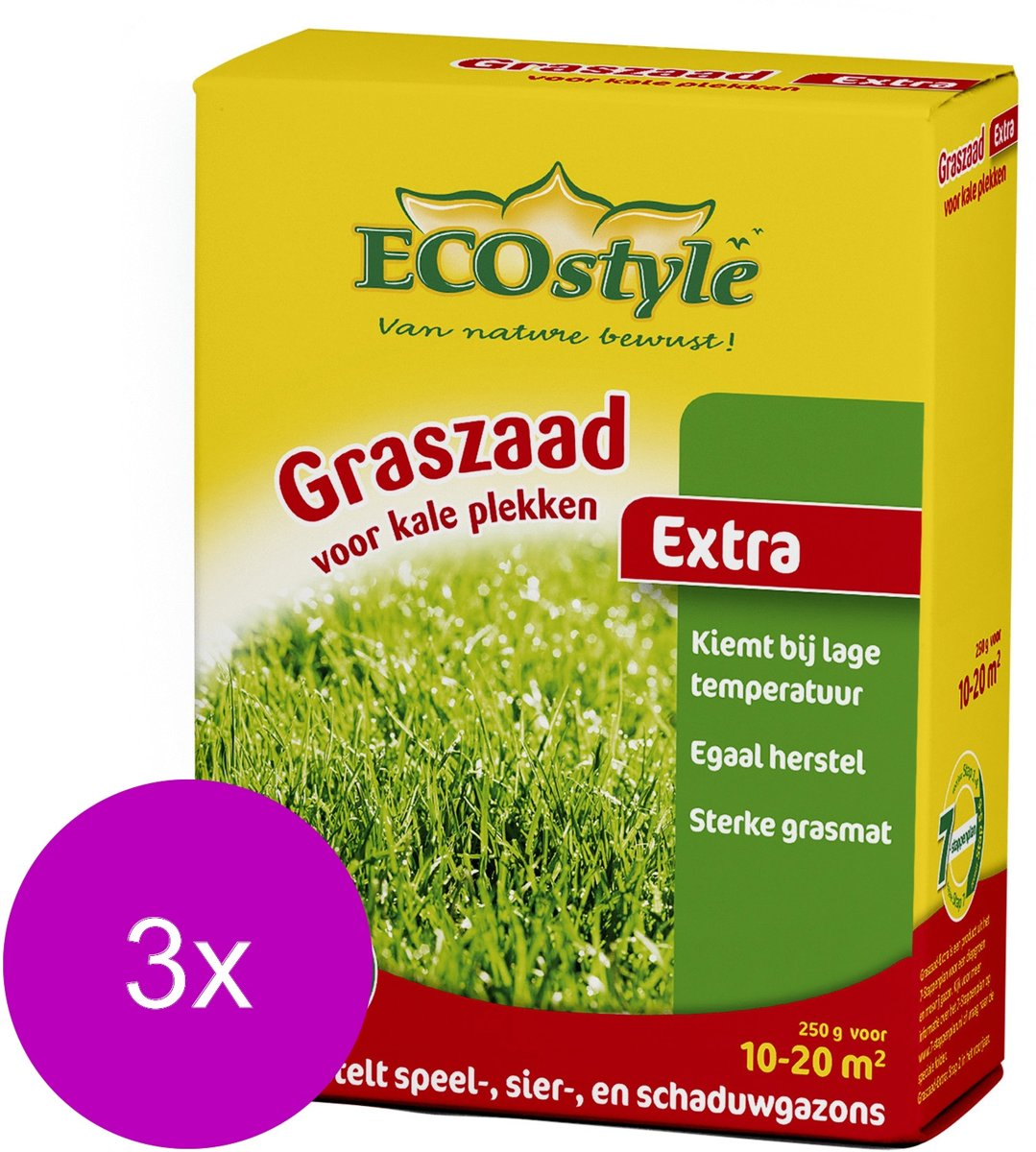 Ecostyle Graszaad-Extra 20 m2 - Graszaden - 3 x 250 g kopen