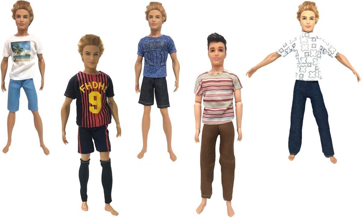 5 Kleding Setjes voor Modepoppen - Barbie - Ken