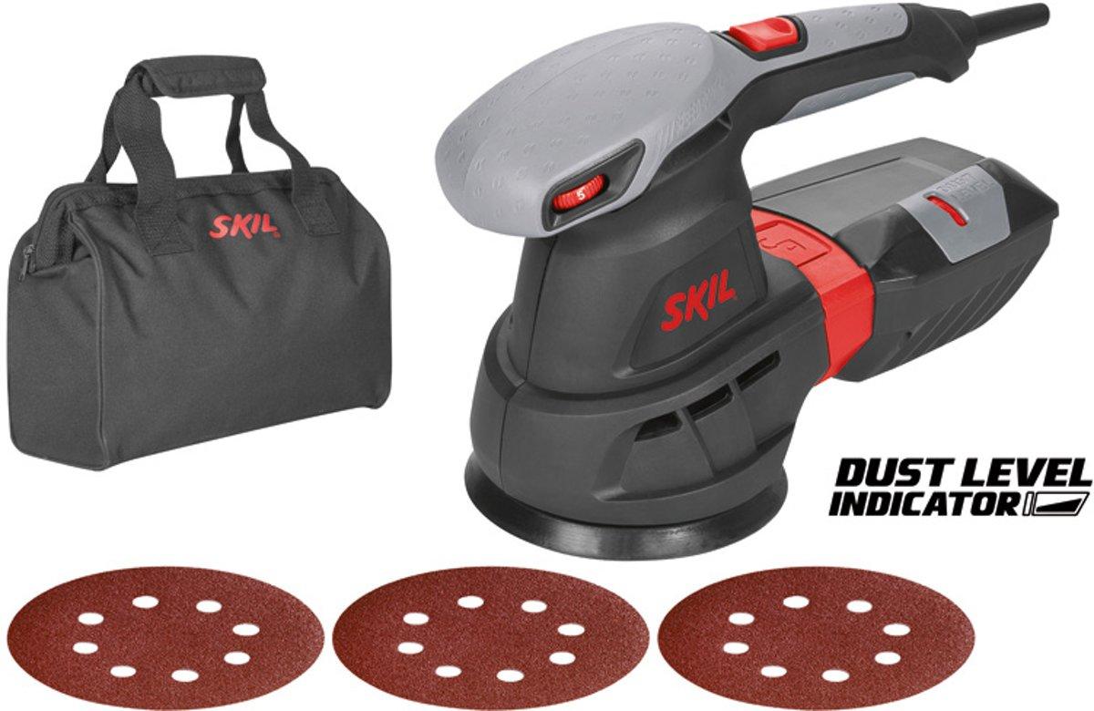 Skil 7455AD Excentrische schuurmachine - 430 Watt - 125 mm schuurplateau - Inclusief 3x Korrel 60 schuurpapier en tas kopen