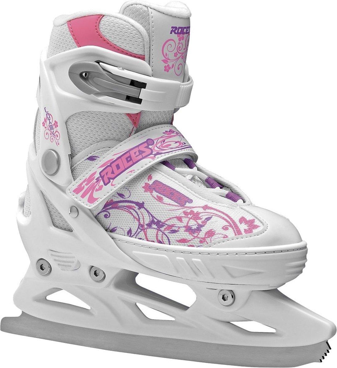 Roces Ijshockeyschaatsen Jokey Meisjes Wit/roze Maat 30-33