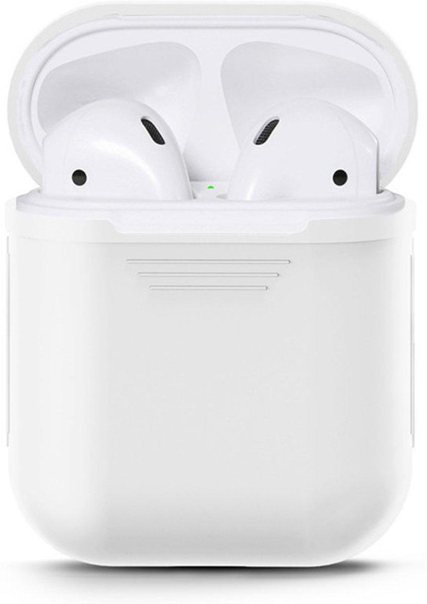 KELERINO. Siliconen hoesje voor Apple Airpods Softcase - Wit kopen