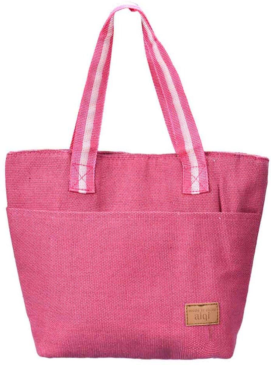 Canvas koeltas - Roze kopen