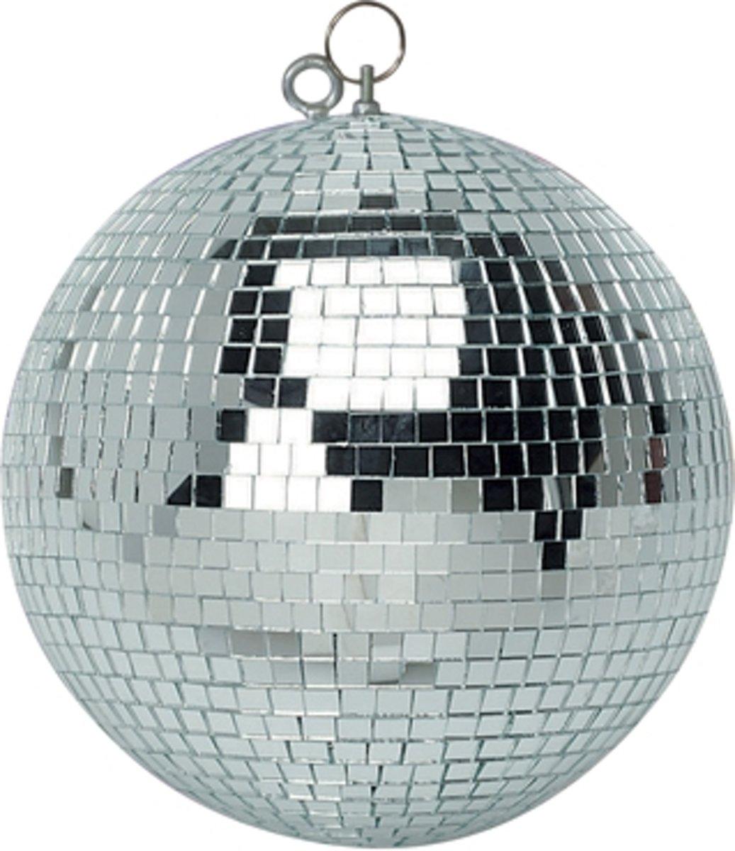 Spiegelbol discobol zilver - 50 cm