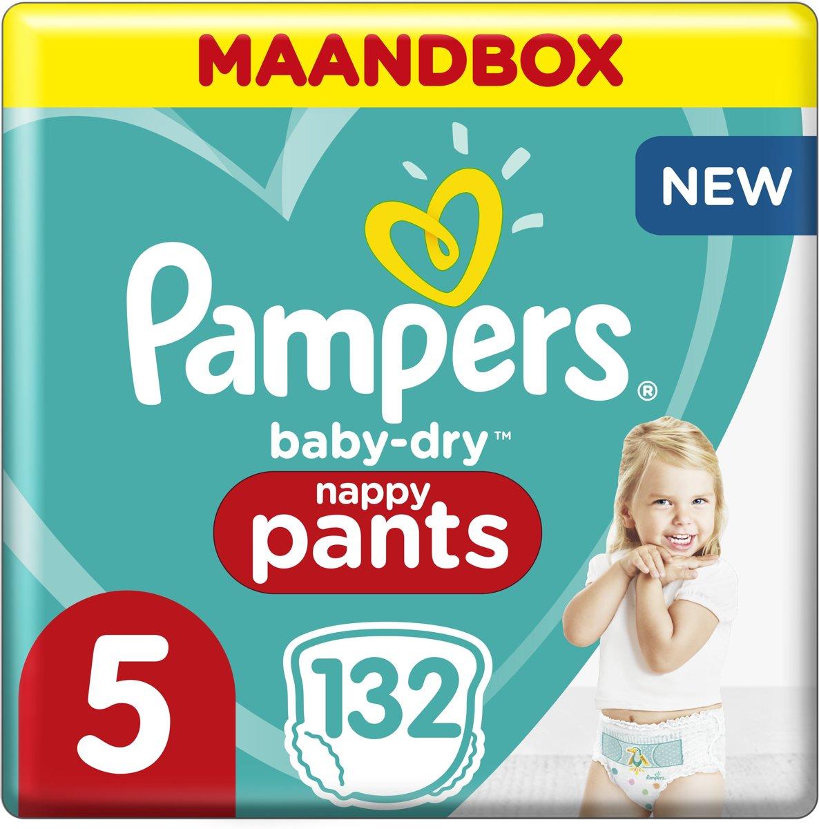 Pampers Baby-Dry Pants Luierbroekjes - Maat 5 (12-17 kg) - 132 stuks - Maandbox - Pampers