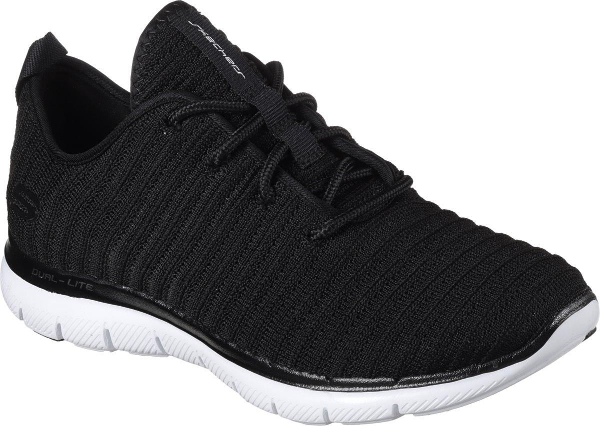 Skechers Flex Appeal 2.0 Sport Shoes Womens In BlackWhite