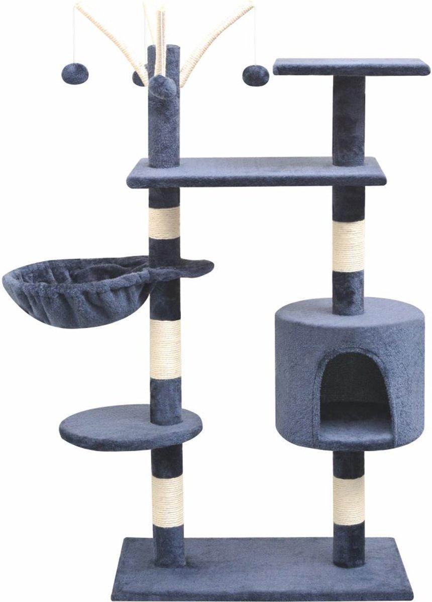 VidaXL Kattenkrabpaal Met Sisal Krabpalen - Donkerblauw - 125 cm