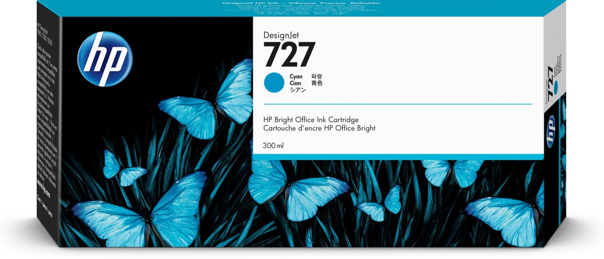 HP 727 300-ml Inkt Cartridge Cyaan