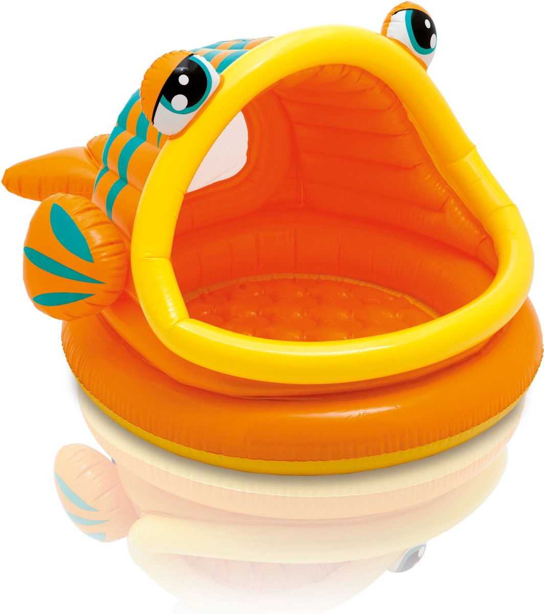 Opblaas zwembad 'Orange Fish'