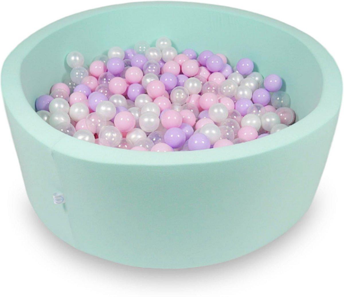 Ballenbak - 500 ballen - 115 x 40 cm - ballenbad - rond mint groen