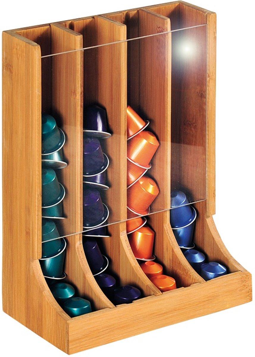 FSC® Houten Bamboe Verticale Capsulehouder - voor 48 Stuks - 20,3 x 11 x 28 cm kopen