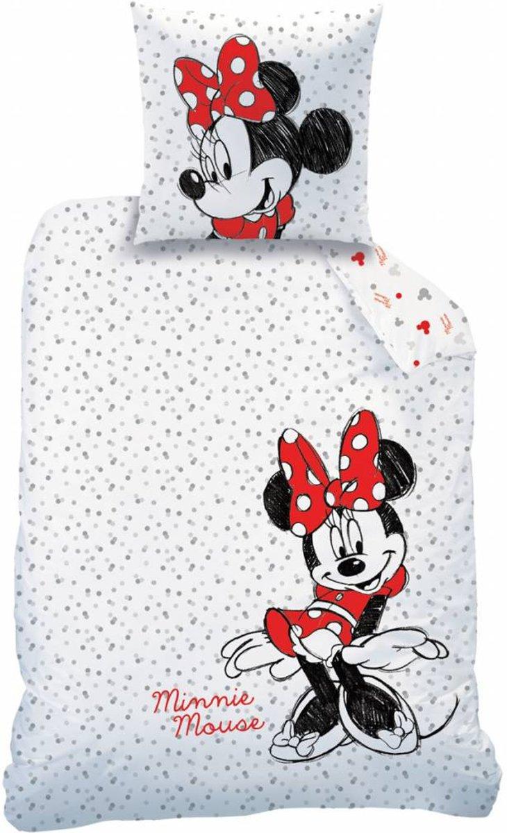 Disney Minnie Mouse Drawing - Dekbedovertrek - Eenpersoons - 140 x 200 cm - Wit kopen