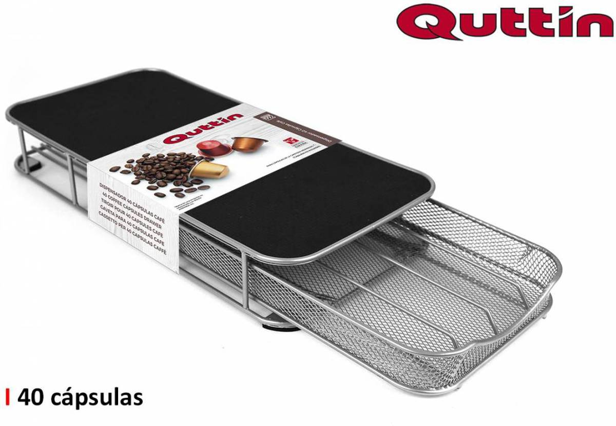 Quttin Capsulehouder met standaard voor koffiezetapparaat - Houder voor 40 koffiecapsules kopen