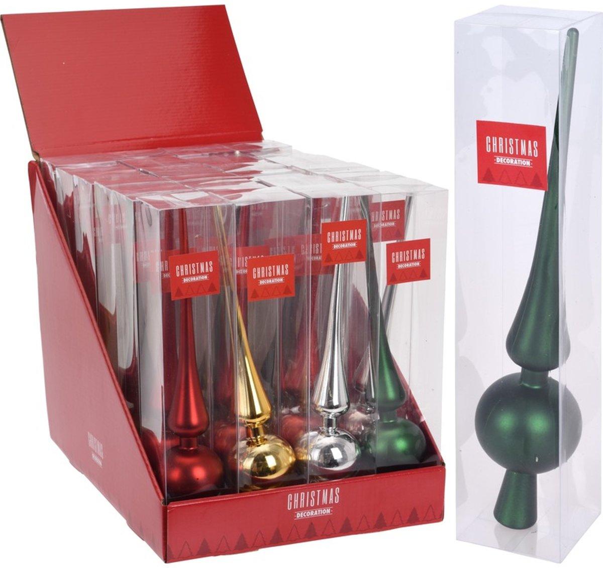 Gouden kerstboom piek 28 cm glans/glanzend - Kunststof/plastic - Onbreekbare kerstboomversieringen goud kopen