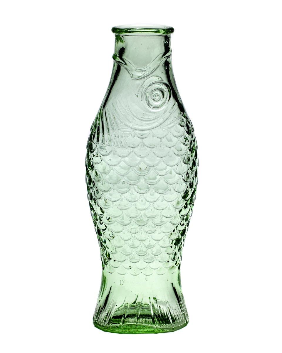 Fles 1 liter - Vis - transparant groen kopen