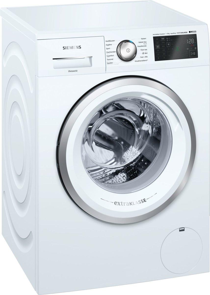 Siemens iQ500 WM14T590NL Vrijstaand Voorbelading 8kg 1400RPM A+++ Wit wasmachine