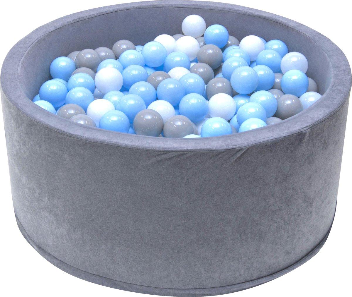 Ballenbak | Grijs incl.  200 witte, grijze en blauwe ballen