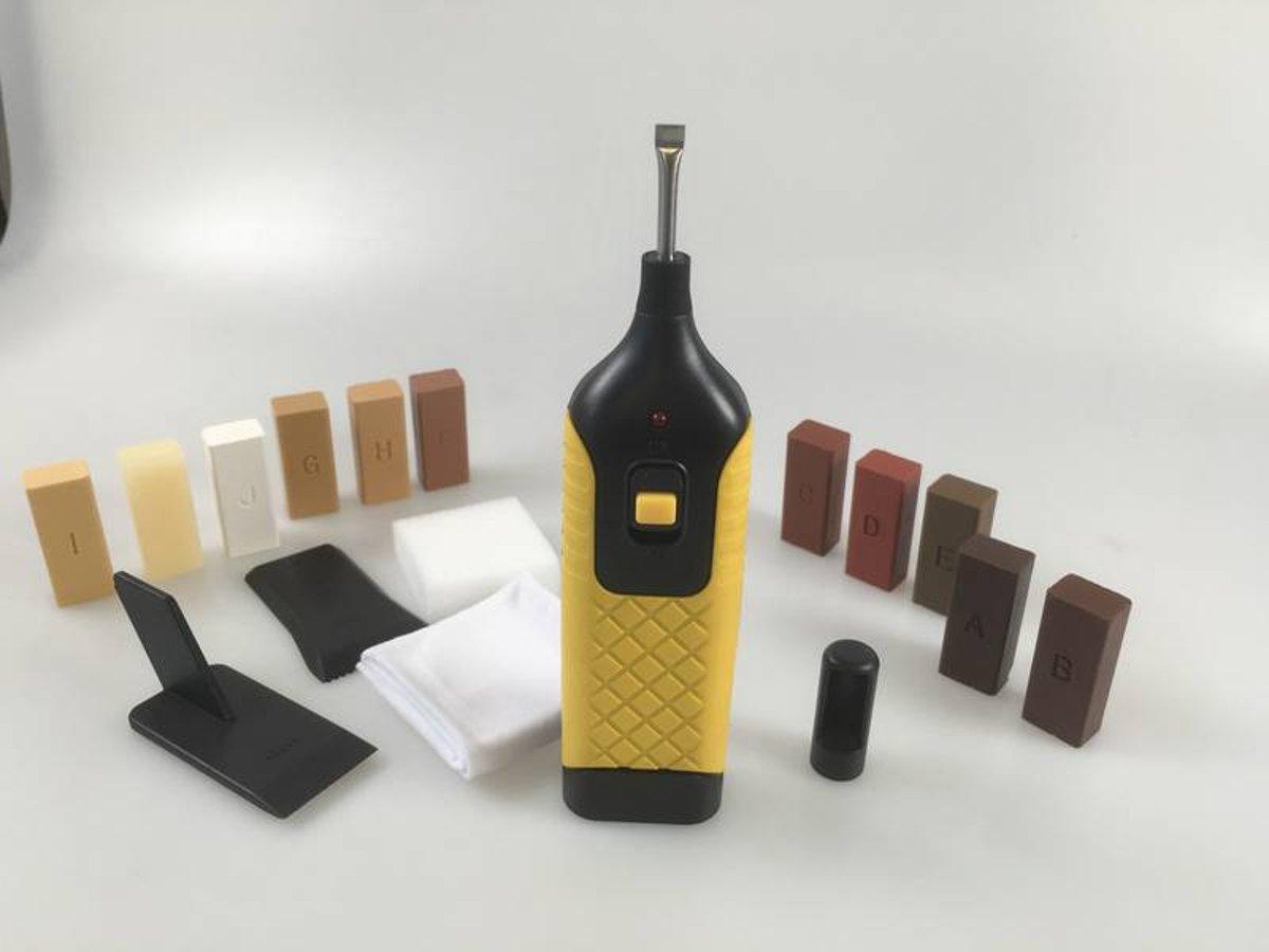 Westfalia Reparatiekit voor laminaat en parket met 11 kleuren Hard Wax staven kopen