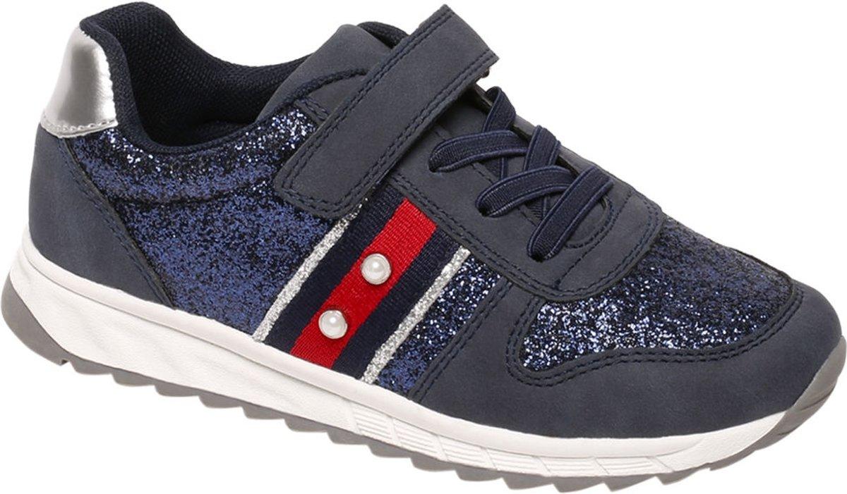 Graceland Kinderen Blauwe sneaker glitters - Maat 33 kopen