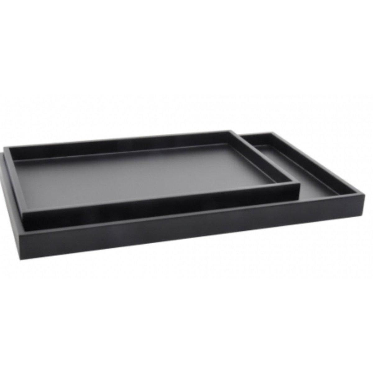 XLBoom Low tray zwart set van 2 rechthoekige dienbladen